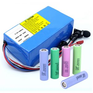 Lithium Battery 18650 48V 12AH 48V 500W Electric Bike Battery nga adunay BMS