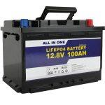 GEL / AGM puli sa Solar Power Storage nga baterya 12v 100ah LifePo4 Lithium ion Battery
