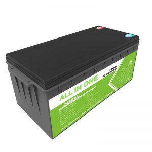 Long Life Rechargeable Backup Power 12.8v 200ah LiFePO4 Battery Alang sa Golf Cart