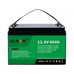 Labing popular nga Lead Acid Replacement Solar RV Marine LiFePO4 12V 80Ah Lithium Battery
