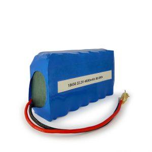 Ang gipahiangay nga ICR18650 nga baterya nga li-ion 6S2P ma-rechargeable 22.2v 4000mAh Lithium ion nga baterya