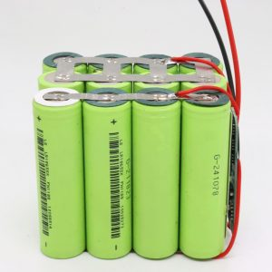 Ang pakyawan nga gipahiangay nga 18650 lithium 4s3p waterproof PCB board deep cycle nga baterya 12v 10AH alang sa power tool