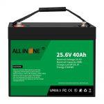 25.6V 40Ah Lithium Iron Phosphate Battery / Puli