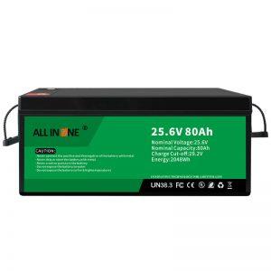 25.6V 80Ah kahilwasan / taas nga kinabuhi nga baterya sa LFP alang sa RV / Caravan / UPS / Golf Cart 24V 80Ah