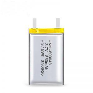 Ang baterya nga magamit sa liPO nga magamit sa liPO 603048 3.7V 850mAh / 3.7V 1700mAH / 7.4V 850mAH