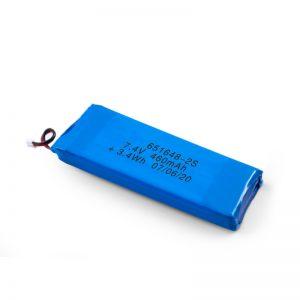 Ang baterya nga magamit sa balik nga baterya sa LiPO 651648 3.7V 460mAh / 3.7V 920mAH / 7.4V 460mAH