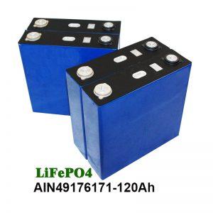 LiFePO4 Prismatic Battery 3.2V 120AH alang sa solar system nga motor UPS