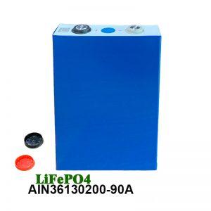 LiFePO4 Prismatic Battery 3.2V 90AH lifepo4 cell rechargeable nga baterya alang sa mga gamit sa kuryente sa awto nga de-kuryente